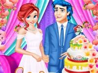 Ariel ve Eric Düğün Pastası