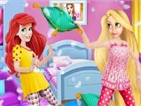 Ariel ve Rapunzel Pijama Partisi
