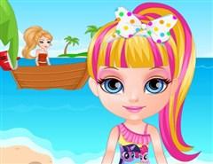Barbie Bebek Sahilde Yaramazlık