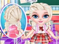Bebek Elsa Okul Saç Modeli