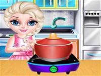 Bebek Elsa Sushi Yapıyor