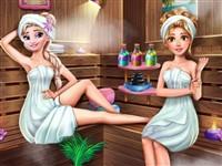 Buz Prensesi Saunada