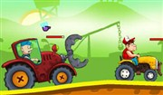 Çiftlikte Traktör Yarışı