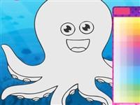 Deniz Hayvanları Boyama Kitabı