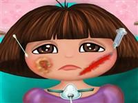 Dora Kaza Geçirdi