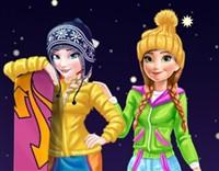 Elsa ve Anna Kış Tatili