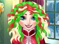 Elsa Yeni Yıl Saç Tasarımı