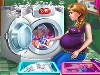 Hamile Prenses Çamaşır Yıkıyor