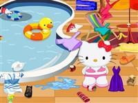 Hello Kitty Havuz Temizliği