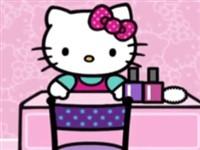 Hello Kitty Tırnak Boyama
