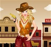 Kovboy Barbie Giydirme