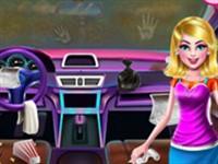 Liseli Kız Araba Temizleme