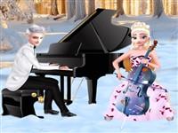 Elsa ve Jack Konser Hazırlığı