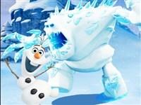 Olaf Kar Canavarından Kaçıyor