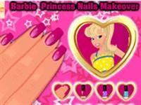 Prenses Barbie Tırnak Boyama