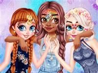 Prensesler Yüz Boyama 2