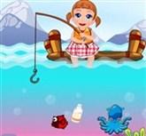 Seven Bebek Balık Tutuyor