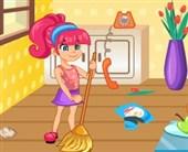 Temizlik Yapan Kız